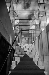 Stairs (damianf5088) Tags: stairs architecture bw blackwhite sky rock light shadow nikon d610 fx sigma art 24105 outdoor indoor outside street city blackandwhite
