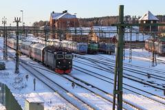 Tågab ankommer Hallsberg 2019-12-02 (Michael Erhardsson) Tags: hallsberg lokstation december vinter snö 2019