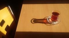 'Tealight' (Bilkent University, Ankara) (Steve Hobson) Tags: bilkent university ankara glass shadow tea