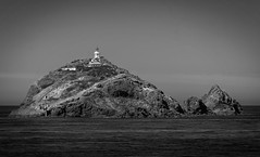 Brothers Island lighthouse (Lyndon (NZ)) Tags: ilce7m2 sony 2019 newzealand nature nz southisland marlboroughsounds cookstrait lighthouse architecture monochrome blackandwhite ocean landscape