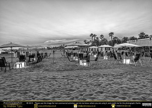 Beach Bar Sunset Mono