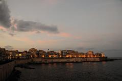 Early evening in Syracuse - Ortygia - Sicily (PascalBo) Tags: nikon d300 europe italia italie italy sicily sicilia sicile syracuse siracusa unesco worldheritage patrimoinemondial sea mer sky ciel dusk outdoor outdoors pascalboegli