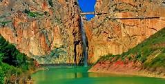 """Desfiladero de los Gaitanes-.""""Caminito del Rey"""" (In Dulce Jubilo) Tags: naturaleza nature landscape photography paisaje panorámica panoramic lago lake agua water fotografía travel viaje escenario"""