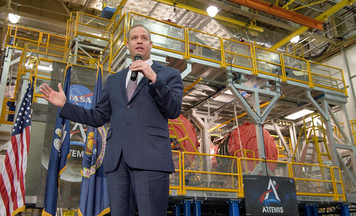 NASA, Public Marks Assembly of SLS Stage with Artemis Day