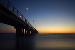 Blue hour in Marina di Massa (Darea62) Tags: sunset bridge sea streetlights sky
