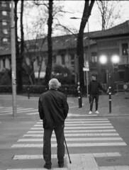 Life (Lyubomir Grigorov Photography) Tags: blackandwhite film summilux 50mm zeiss ikon ilford hp5 400 street portrait life