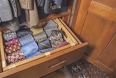 My Husband Kondo-ized His Ties (jolynne_martinez) Tags: kansascity mo unitedstatesofamerica flickrfriday drawer mariekondo kondoize kondoized ties wardrobe organized nikkor nikon nikond60