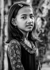 Petiite fille Cham (fredericpecheux) Tags: petite fille girl cham vietnam mekong asie asia asian bw nb canon eos 80d happyplanet asiafavorites