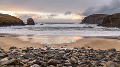 glimpse of colour besides grey! (Sunshinenshadows) Tags: beaches beachscene stones sand wavescliffs isleoflewis dalbeg westside scotland outerhebrides