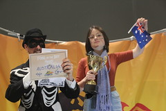 Climate striker Daisy accepts #FossiloftheDay award for Australia at #COP25 - Dec 10 - IMG_7169 (John Englart (Takver)) Tags: fotd cop25 climate climatechange climateactionnetwork can australia fossiloftheday