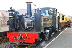 Rheidol railway  06-07-2007 (Joseph Collinson) Tags: wales rheidol railway station platform track july 2007 summer no8 coach aberystwyth