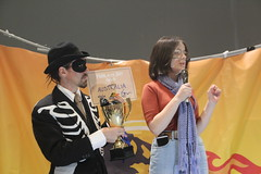 Climate striker Daisy accepts #FossiloftheDay award for Australia at #COP25 - Dec 10 - IMG_7176 (John Englart (Takver)) Tags: fotd cop25 climate climatechange climateactionnetwork can australia fossiloftheday