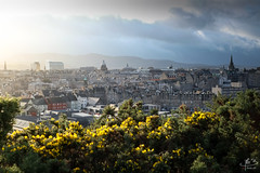 Photo of light and shadow over Edinburgh