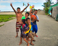 Hello Boys (Beegee49) Tags: street people boys children playing basketball smiling seaside happyplanet panasonic fz1000 cadiz city philippines asia
