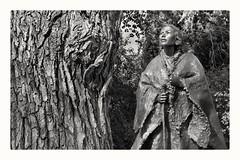 indigenous princess (Bluescruiser1949) Tags: indigenous princess blackandwhiteversion photoop bronzestatue elmtree wanderingaboutphotography bronze blackwhitephotography blackandwhite blackwhitelandscapephotography