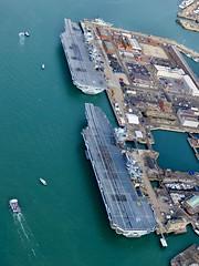 P1150025 (Andy Amor) Tags: city ships warships r08 r09 hms pompey hampshire sea docks dockyard rn hmnb