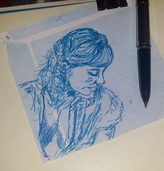 Pequeños dibujos a pluma estilográfica. . . #portrait #drawing #art #draw #painting #buonanotte #plumaestilografica #blue #artist#dibujos #tinta #sketch #fanart  #artlovers #painter #artsharing #artstagram #woman #portrait#ink#buenasnoches #bellezza #dibu (egc2607) Tags: blue ink sketch disegno tinta goodnight instagram tattoo art plumaestilografica artdaily dibujosapluma artlovers bellezza artist painter painting artsharing drawing buenasnoches hairstyle fanart buonanotte beautifulgirl dibujos portrait woman artstagram draw