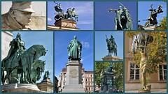 Small collection (wilma HW61) Tags: standbeeld statue lastatue statua beelden image boedapest budapest buda collage photoborder hongarije hongrie hungary ungheria magyarország outdoor wilmahw61 wilmawesterhoud