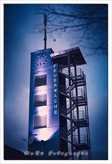 Feuerwache Cottbus (MaRü Fotografie) Tags: 50mm architektur herbst bauwerk scottbus blauestunde sphotoshopbearbeitungen stadt gebäude cottbus 2019 dezember treppe