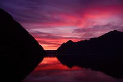 sunset (lombardi_davide_) Tags: sunset lake tramonto landscape sfondo background mountain nature