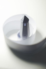 round tower... (CatMacBride) Tags: paper papercraft tower swirl concept