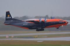 UR-CJN Cavok Air Antonov AN-12, EGBB 25/11/19 (David K- IOM Pics) Tags: egbb bhx birmingham elmdon airport ur urcjn antonov an12 candid cvk cavok air