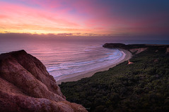 Sunrise with a view in landscape (Gary Eastwood) Tags: ptaddis seascape sea sunrise beacheslandscapes beach wideangle longexposure ndfilters nikond850 nikon nisifilters cloudsstormssunsetssunrises greatoceanroad clouds sirui pixel shimoda