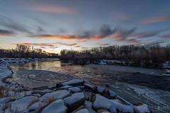IMGP4902-Edit (Matt_Burt) Tags: clouds gunnisonriver ice moonrise reflection rocks snow sunset whitewaterpark