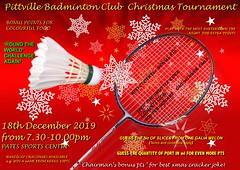 Pittville Badminton Club - Senior Club Christmas Tournament 2019