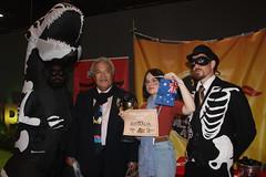 Award accepters Enele and Daisy #FossiloftheDay #COP25 - Dec 10 -  IMG_7180 (John Englart (Takver)) Tags: fotd cop25 climate climatechange climateactionnetwork can australia tuvalu climatevulnerableforum rayoftheday fossiloftheday
