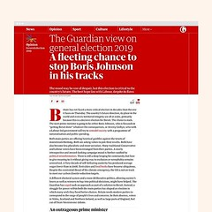 Red top for the day . . The Guardian view on general election 2019. A fleeting chance to stop Boris Johnson in his tracks. . . Something fast and simple for our leader article today. . . . #graphicdesign #design #digitaldesign #website #web #type #typogra (Ben Longden) Tags: red top for day the guardian view general election 2019 a fleeting chance stop boris johnson his tracks something fast simple our leader article today graphicdesign design digitaldesign website web type typography editorial editorialdesign