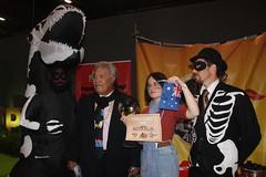 Award accepters Enele and Daisy #FossiloftheDay #COP25 - Dec 10 - IMG_7181 (John Englart (Takver)) Tags: fotd cop25 climate climatechange climateactionnetwork can australia tuvalu climatevulnerableforum rayoftheday fossiloftheday