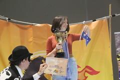 Climate striker Daisy accepts #FossiloftheDay award for Australia at #COP25 - Dec 10 - IMG_7167 (John Englart (Takver)) Tags: fotd cop25 climate climatechange climateactionnetwork can australia fossiloftheday