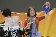 Climate striker Daisy accepts #FossiloftheDay award for Australia at #COP25 - Dec 10 - IMG_7168 (John Englart (Takver)) Tags: fotd cop25 climate climatechange climateactionnetwork can australia fossiloftheday