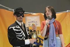 Climate striker Daisy accepts #FossiloftheDay award for Australia at #COP25 - Dec 10 - IMG_7173 (John Englart (Takver)) Tags: fotd cop25 climate climatechange climateactionnetwork can australia fossiloftheday