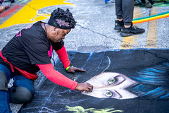2019 Via Colori Festival (burnt dirt) Tags: houston texas candid documentary street photography downtown city urban metro outdoor people person fujifilm xt3 fujinon 50mm f2 style fashion life real crowd group emotion expression portrait close art artist chalk pastel paint line sidewalk angelina jolie maleficient