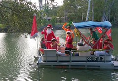 Santa on the river. (marsh_maureen) Tags: santa currumbin christmas boat happytimes