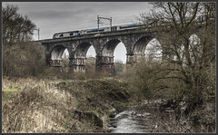 Modern history (Blaydon52C) Tags: class68 68026 transpennine express railway rail railways railfreight trains train transport railroad locomotive locomotives loco liverpool manchester sankey brook viaduct historic history
