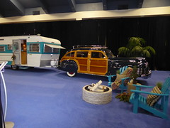 Holiday Rambler Camper and Chrysler Windsor Town & Country (c_nilsen) Tags: sanfrancisco sanfranciscoautoshow car vehicle mosconecenter digital digitalphoto california holidayrambler camper chrysler