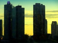 New York Sunrise (dimaruss34) Tags: newyork brooklyn dmitriyfomenko image manhattan sky skyline clouds buildings skyscrepers architecture queens sunrise