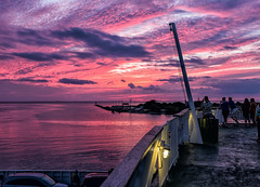 Cape May Sunset (BrilliantBill) Tags: fujifilm fuji fujix100 southjersey sunset summer ferry capemaycounty capemay capemaynj capemayferry delawarebay purple newjersey marine maritime fujicolor