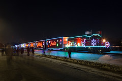Holiday Train at The Grove (jterry618) Tags: canadianpacific holidaytrain minnesota cp cp2246 christmaslights christmastrain holiday train engine railroadcar locomotive