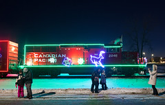 CP Holiday Train at the Cottage Grove Stop - 2019 (jterry618) Tags: canadianpacific holidaytrain minnesota cp cp2246 christmaslights christmastrain holiday train engine railroadcar locomotive