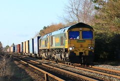 Freightliner x2 66564 & 66539 9th December 2019 Finningley Wroot Road (1) (asdofdsa) Tags: trains locomotive railway finningley levelcrossing freight transport containers lincolnline freightliner 66564 66539