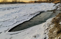 River Knife (Clashmaker) Tags: sunset water ice winter river