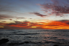 Sunset 10 Dec 19 - La Jolla, Ca (Swizzle Stick Photography) Tags: tonightssunset121019sandiego sunset california la jolla sunsets clouds pacific ocean san diego red orange yellow pink purple beach golden gold beaches evening twilight dusk coast coastline water sky sun darkness nature