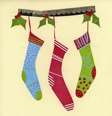 stockings (Colorfly Studio) Tags: colorflystudio jenniferdedonato paper artwork artist christmas art silly childrensillustration