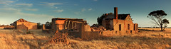 Life on the Land (Darren Schiller) Tags: australia abandoned architecture building derelict decaying deserted dilapidated empty evening farming farmhouse history heritage house cottage landscape old panorama rural rustic rusty ruins southaustralia tree rock country vintage wreck