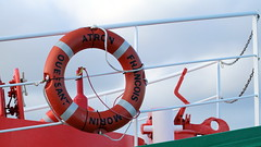 SNSM Patron François Morin - Ouessant (patrick_milan) Tags: lifebuoy buoy buoyant red rot circle ship boat patron morin françois snsm ouessant