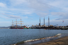 Balclutha and C. A. Thayer - San Francisco Maritime National Historical Park (fandarwin) Tags: san francisco maritime national historical park balclutha darwin fan fandarwin olympus omd em10